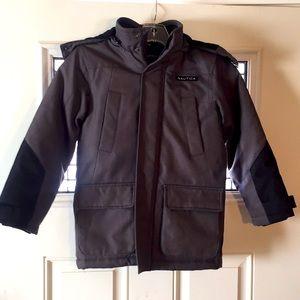 Nautica boys jacket gray black seven hooded coat